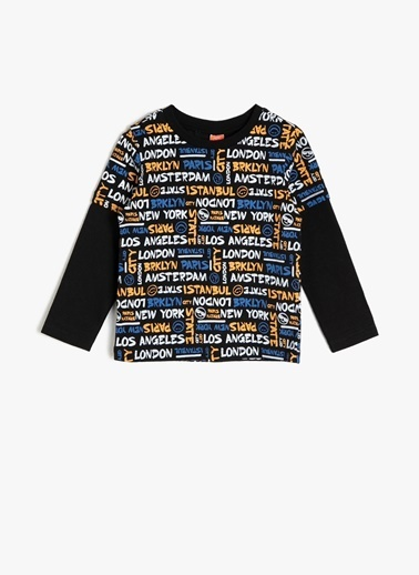 Koton Kids Koton T-Shirt Siyah